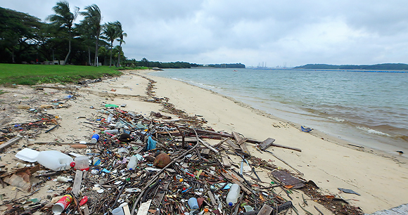Beach trash - Photo by Ria Tan