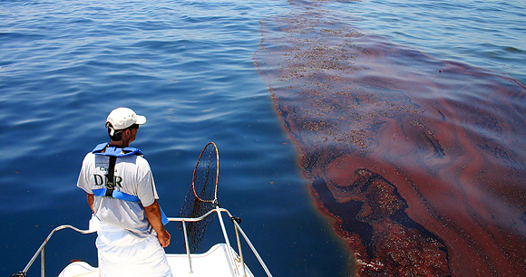 Oil spill - Photo by Georgia Department of Natural Resources