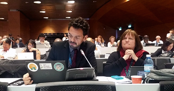 AWI's marine animal consultant, Kate O'Connell, attending the World Heritage Committee meeting in Baku, Azerbaijan