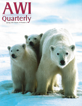 Spring 2001 AWI Quarterly Cover - Photo by Daniel J. Cox
