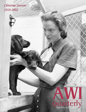 Winter 2003 AWI Quarterly Cover - Christine Stevens, Photo taken by Esther Bubley