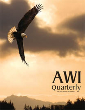 Fall 2007 AWI Quarterly Cover - Photo by John Hyde