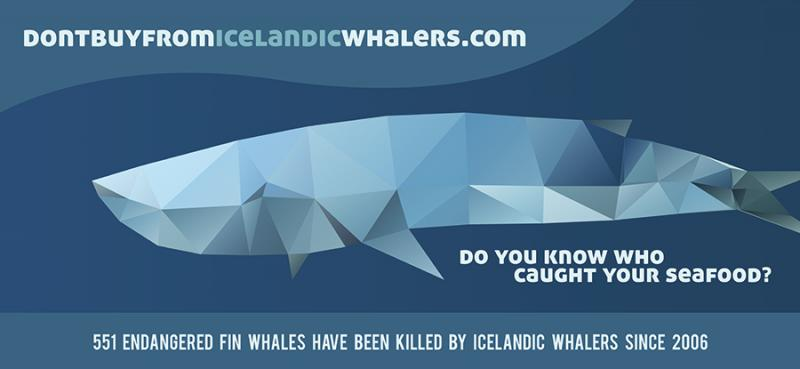 Ad Warns Consumers of Perils of Buying Seafood from Icelandic Whalers