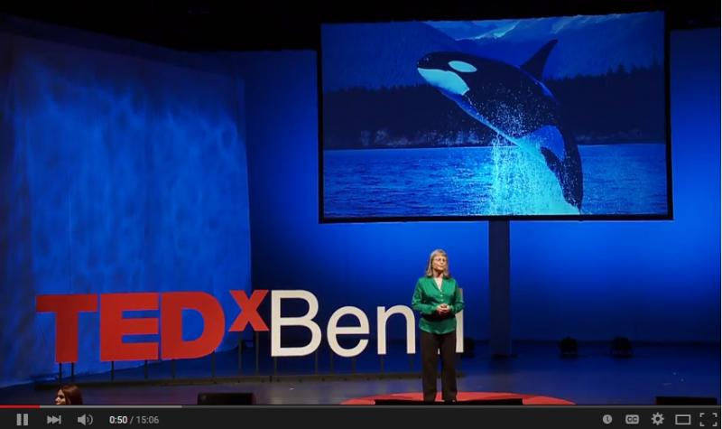 AWI's Naomi Rose speaking at TedxBend Oregon