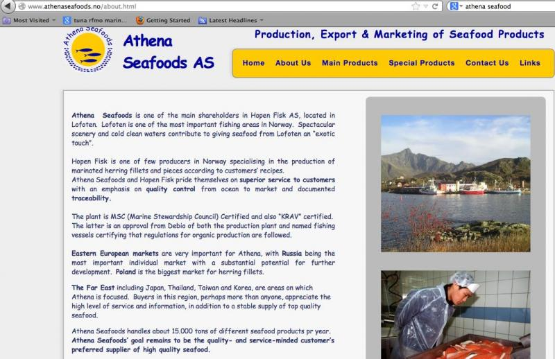 Athena Seafoods 1